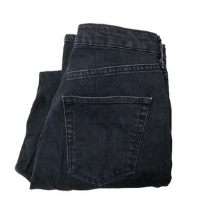 Topshop Moto Orson Black High Rise Slim Leg Jeans